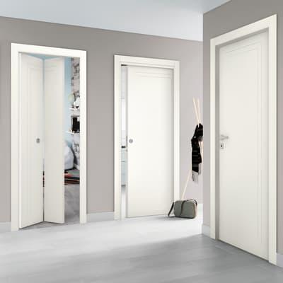 Porta a battente Angles bianco L 80 x H 210 cm reversibile