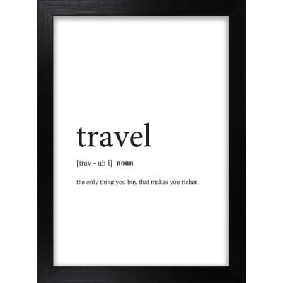 Stampa incorniciata Travel 13x18 cm