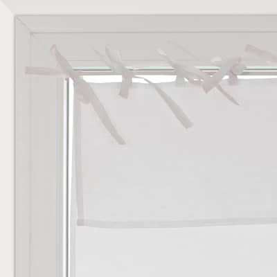 Tendina vetro Nouettes bianco lacci 45x120 cm