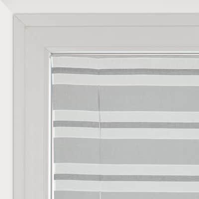 Tendina a vetro regolabile Peggy grigio tunnel 58 x 240 cm