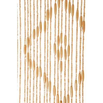 Tenda per porta Legno naturale 140x240 cm