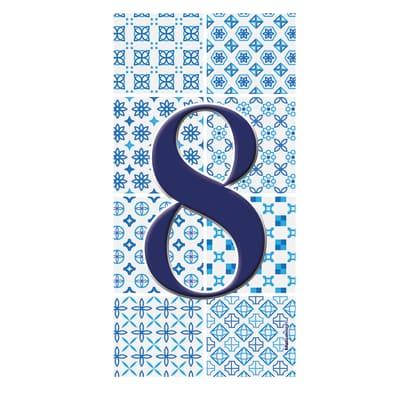Numero Arabesque 8 , 7.5 x 15 cm
