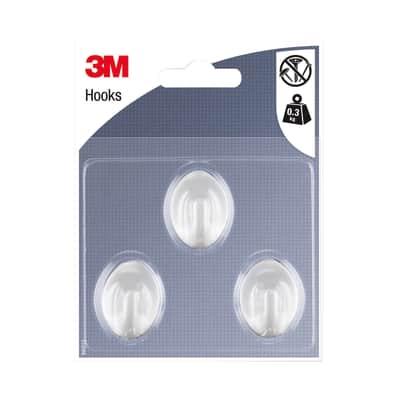 Gancio 3M IHAP12 in plastica grigio argento