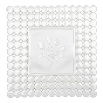 Tappeto protettivo per lavello pvc bianco L 32 x H 32 cm