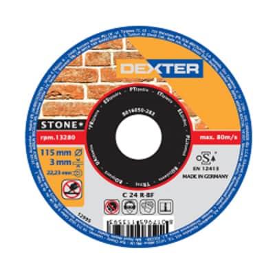 Disco di taglio DEXTER c24r set da 5 pezzi per pietra Ø 115 mm