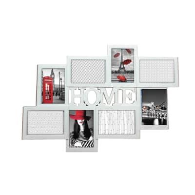 Cornice Home per 8 fotografie 10 x 15 bianco