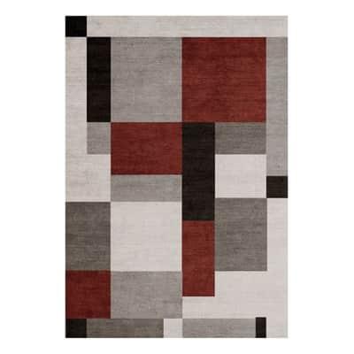 Tappeto per interno Soave Soft grigio e rosso 200x300 cm