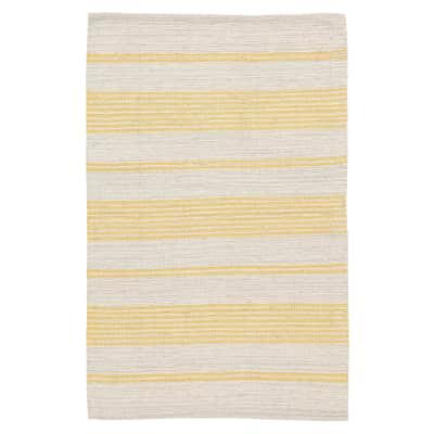 Tappeto Cotone bay stripe giallo 200x140 cm