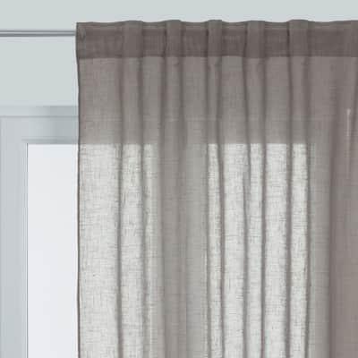 Tenda Aspect lin grigio passanti nascosti 145 x 300 cm