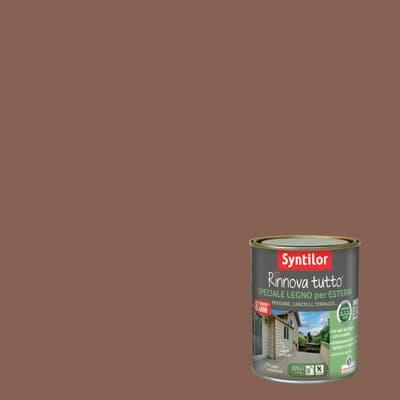 Smalto per legno da esterno base acqua SYNTILOR Rinnova Tutto marrone terracotta 0.75 L
