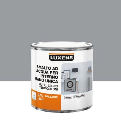 Smalto LUXENS base acqua grigio granito 3 lucido 0.5 L
