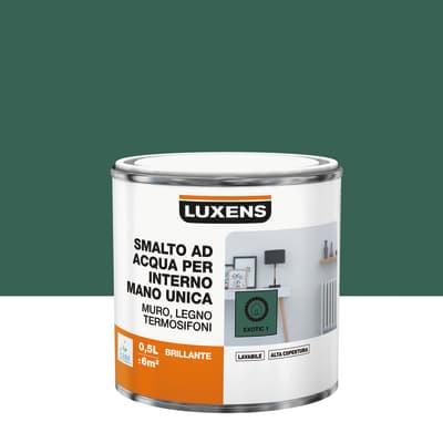 Smalto LUXENS base acqua verde esotico 1 lucido 0.5 L