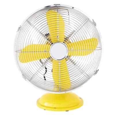 Ventilatore da tavolo EQUATION Mini Cooma giallo 40 W Ø 30 cm
