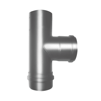 Raccordo per canna fumaria in acciaio al carbonio Ø 80 mm