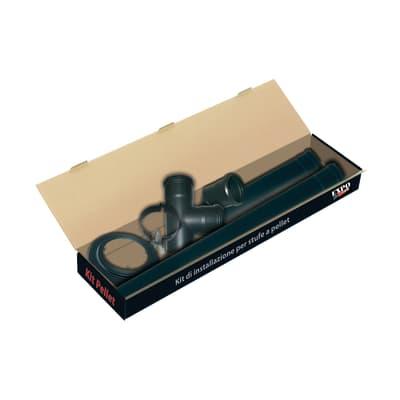 Kit tubo in acciaio al carbonio smaltato L 50 cm x Ø 80 mm