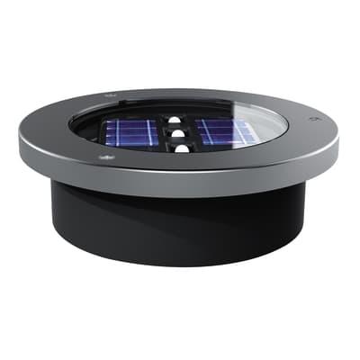 Faretto a incasso esterno solare SO538 nero, acciaio luce bianco caldo diam.12cm 12x4cm 10W 3LM IP44 YANTEC