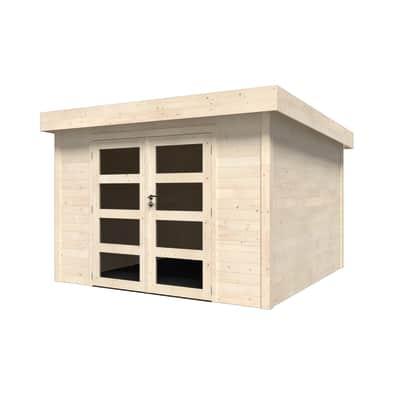 Casetta da giardino in legno Oleandro Plus,  superficie interna 8.65 m² e spessore parete 28 mm