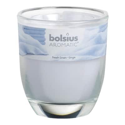 Candela profumata BOLSIUS essenza fresco bucato H 8 cm