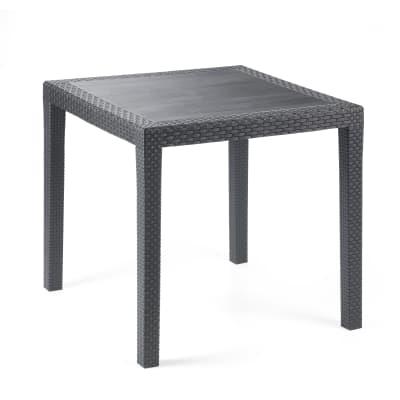 Tavolo da giardino quadrato King con piano in resina L 80 x P 80 cm