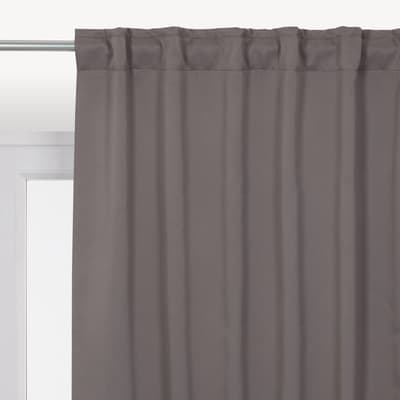 Tenda INSPIRE Oscurante Stopfreddo marrone fettuccia con passanti nascosti 140 x 280 cm