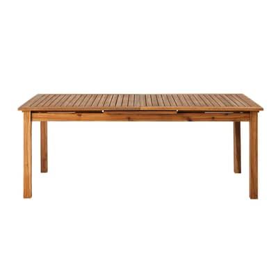 Tavolo da giardino allungabile rettangolare NATERIAL  con piano in Legno L 200 x P 100 cm