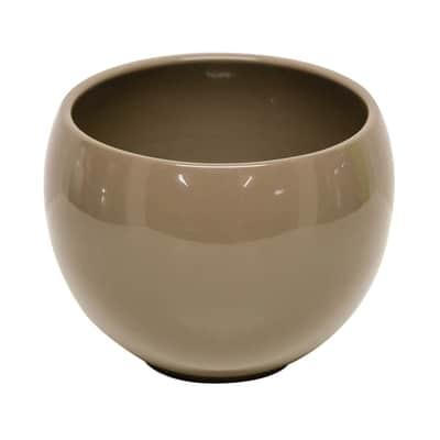 Portavaso Luna in ceramica H 12.5 cm, Ø 16.8 cm