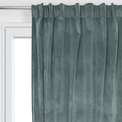 Tenda Misty verde fettuccia con passanti nascosti 135x280 cm