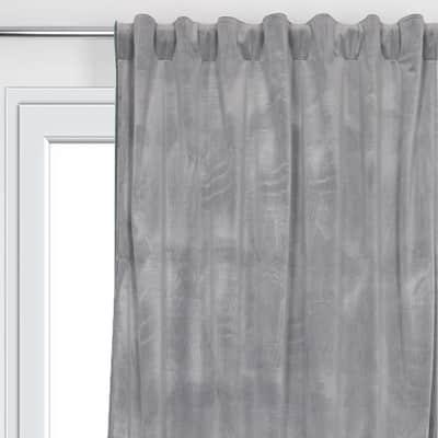 Tenda Misty grigio fettuccia con passanti nascosti 135 x 280 cm