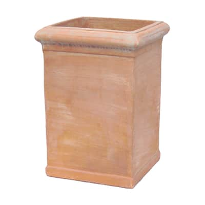 Vaso Pilone liscio in terracotta colore cotto H 60 cm, L 40 x P 40 cm
