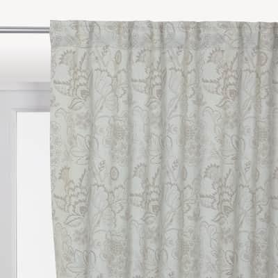 Tenda INSPIRE Oscurante Flowers grigio nastro tenda con anse nascoste 140.0 x 280.0 cm