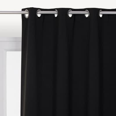 Tenda INSPIRE Oscurante nero occhielli 140 x 280 cm