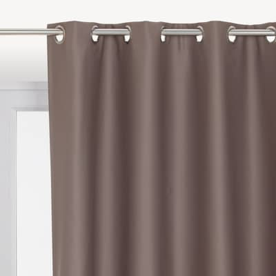 Tenda INSPIRE Oscurante marrone occhielli 140 x 280 cm
