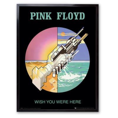 Stampa incorniciata Pink Floyd 30x40 cm