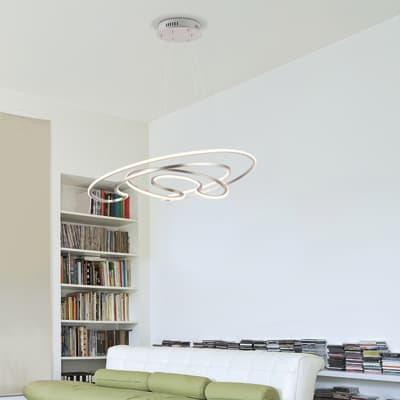 Lampadario Sofia bianco, in plastica, diam. 76 cm, LED integrato 60W 3170LM IP20