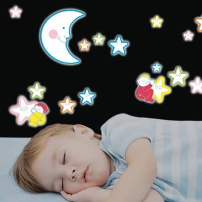 Sticker Smiling stars 47x47 cm