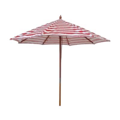 Ombrellone L 2.4 x P 2.4 m color rosso