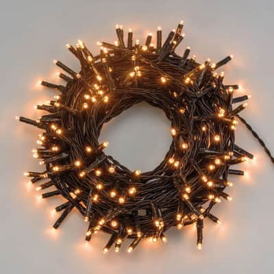 Catena luminosa 1000 lampadine LED bianco caldo 400 cm