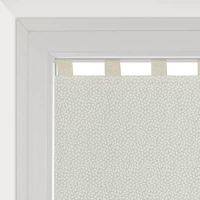 Tendina vetro Chicco ecru passanti nascosti 58 x 160 cm