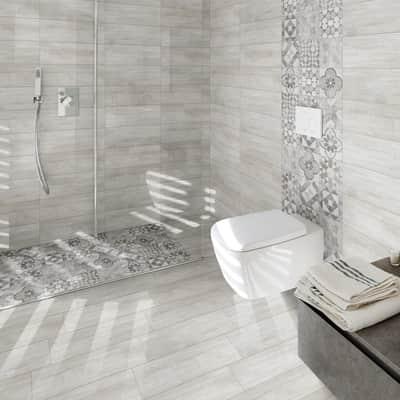 Piastrella Villa H 20 x L 20 cm PEI 4/5 grigio e bianco