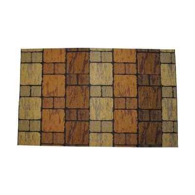 Passatoia Deco Brick , marrone, 53x53 cm