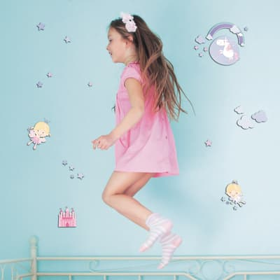 Sticker Happy fairies 31.5x36 cm
