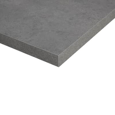 Piano cucina su misura in truciolare Porfido grigio scuro , spessore 6 cm