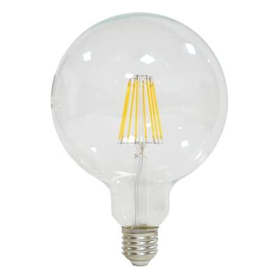 Lampadina LED filamento E27, Globo,  diffusore Trasparente, col.luce Bianco, Luce naturale, 12W=1521LM (equiv 100 W), 360° , LEXMAN