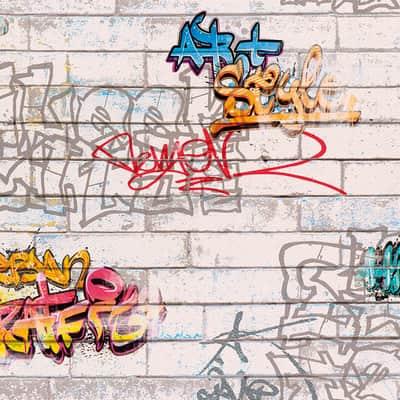 Carta da parati Graffiti multicolor