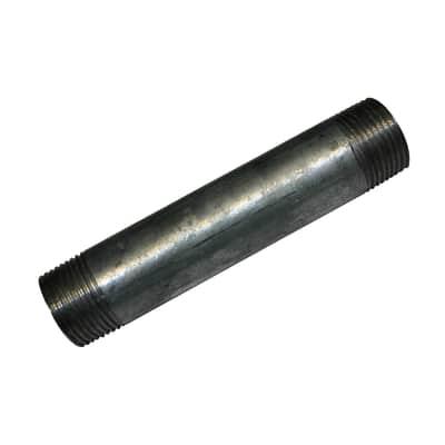 """Tubo acciaio in ferro zincato Barilotto tronchetto in acciaio zincato Ø 1/2"""" L 0.2 m"""