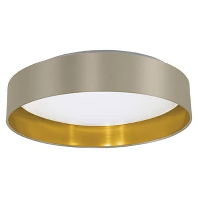 Plafoniera glamour Maserlo LED integrato oro e bianco e tortora, in metallo,  D. 40.5 cm EGLO