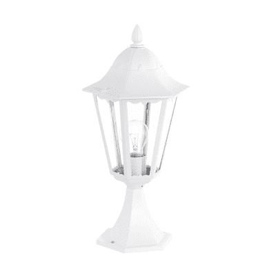 Lampioncino Navedo H47cm in alluminio, bianco, E27 1xMAX100W IP44 EGLO