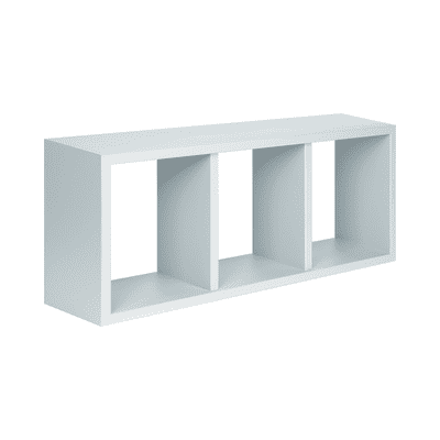 Mensola a cubo Spaceo L 70 x H 30 cm, Sp 15 mm bianco