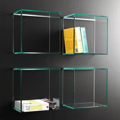 Mensola a cubo Q L 28 x H 28 cm, Sp 8 mm verde