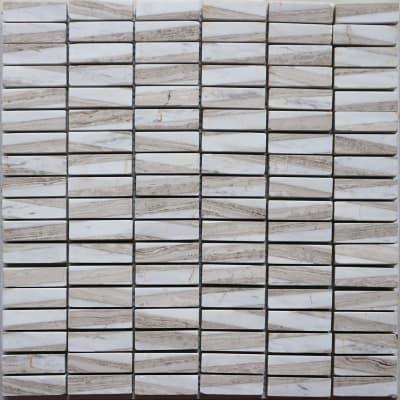 Mosaico Mineral Marble White Beige H 30 x L 30 cm bianco/beige